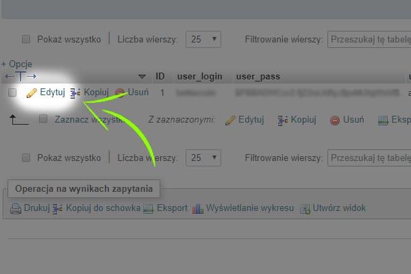 edycja wp_users - baza danych
