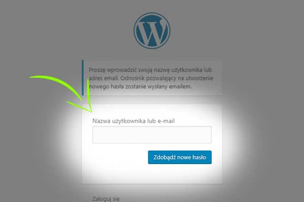 nowe haslo admina wordpress