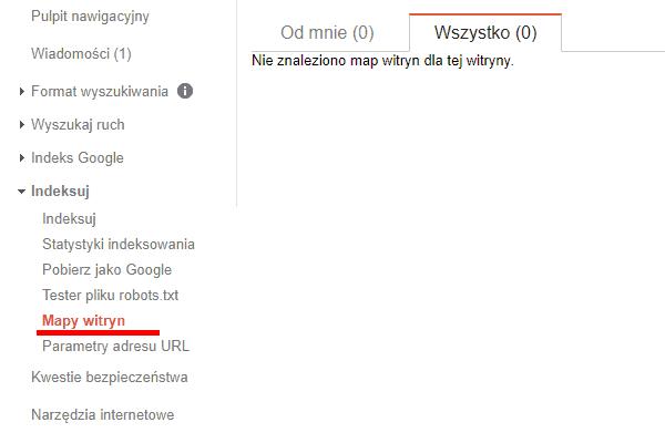 dodawanie sitemapy w google