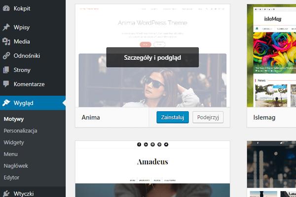 instalacja motywu bloga