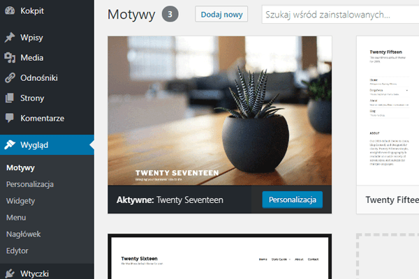 motyw wordpress blog