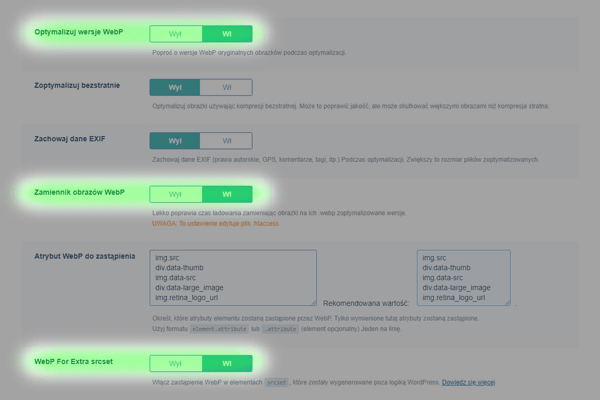 litespeed webp optymalizacja - krok 2