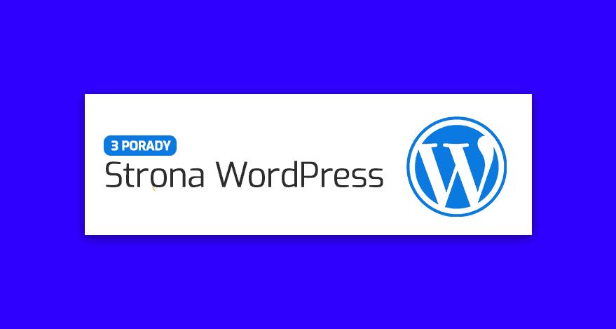 zakladanie strony internetowej wordpress