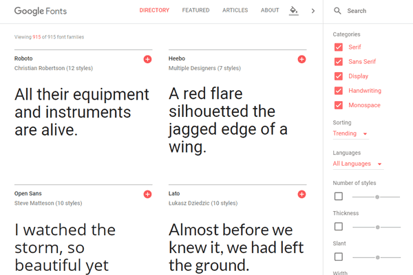 pobieranie google fonts - krok 1