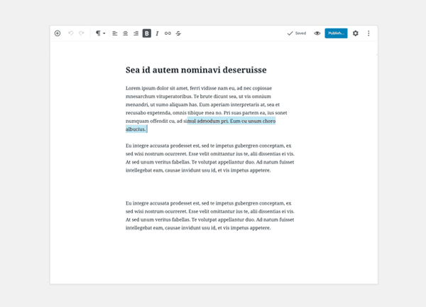 gutenberg WordPress 5.2