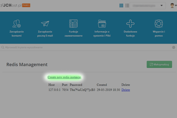 instalacja redis panel hostingowy - 2