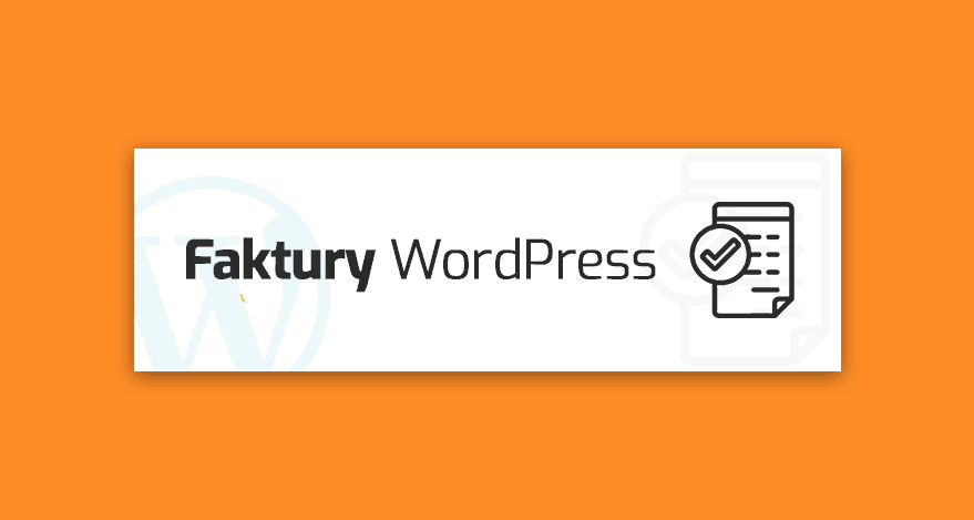 pluginy - faktury WordPress