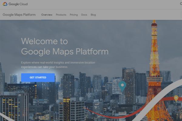 sposob 1 - klucz api mapy google