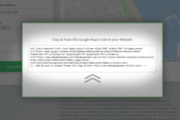sposob 2 - reczne umieszczanie mapy google