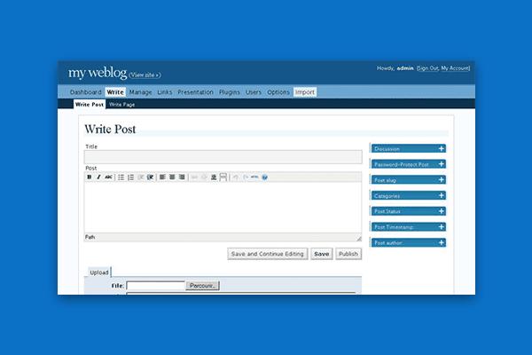 historia WordPress - wersja 2.0 - 2005
