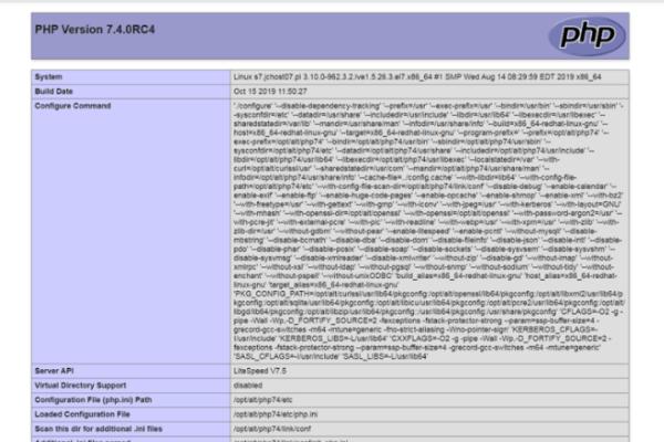 specyfikacja php 7.4