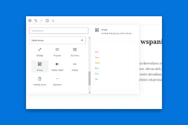 nowosci - edytor WordPress