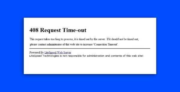 znaczenie http 408 request timeout