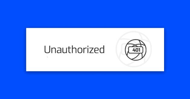 blad-401-unauthorized