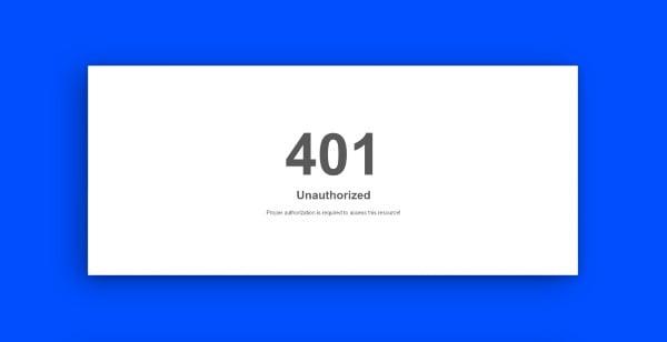 znaczenie http 401 unauthorized