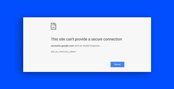ERR_SSL_PROTOCOL_ERROR - znaczenie