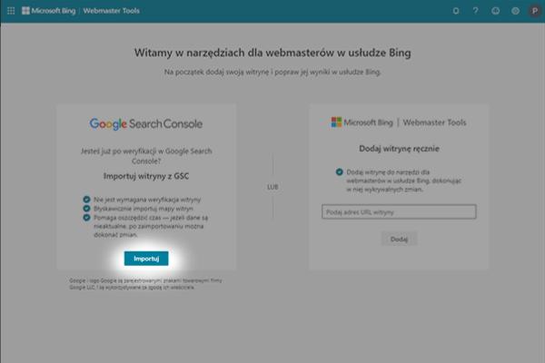 rejestracja witryny w bing webmaster tools