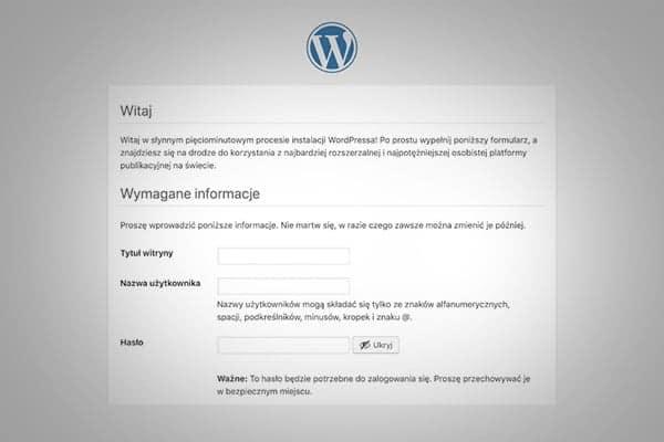 instalacja systemu wordpress