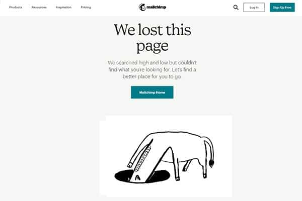 strona 404 - mailchimp