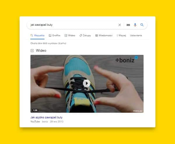 google featured snippet - film