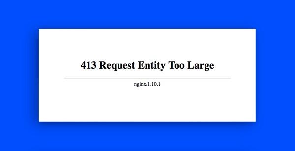 znaczenie http 413 request entity too large